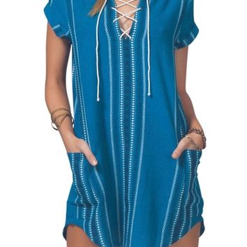 Rip Curl Lucia Lace-Up Dress | Nordstrom