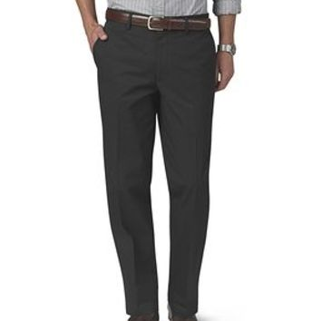 Dockers Signature On-the-Go Khaki Pants, Straight Fit - Black Grey - Men's