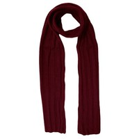 Luxury Divas Burgundy Plum Warm Classic Rib Knitted Unisex Winter Scarf