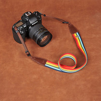 Rainbow DSLR Leather Camera Strap - Nikon Camera Strap - Canon Camera Strap