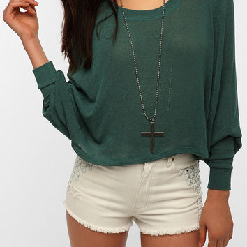 Sparkle & Fade Extreme Dolman Cropped Sweater