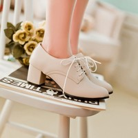 Buy Pastel Pairs Oxfords Pumps | YesStyle