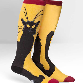 Sock It To Me Chat Noir Knee High Socks