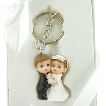 Wedding Bridal Shower Anniversary Party Favor Souvenir Gift Keepsake Ready Made, Key Chain, Couple Kids