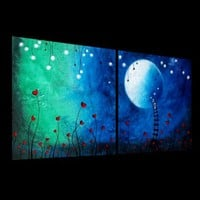 Fantasy Fairytale Painting - Lighting up the night sky by Jaime Best