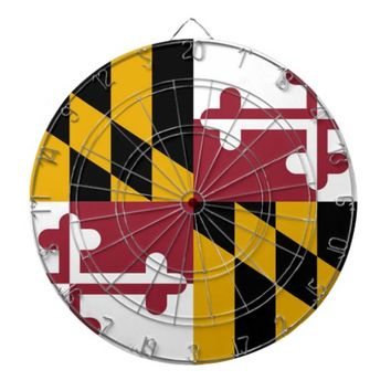 Dartboard with Flag of Maryland, USA