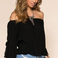 Back By Daylight Top - Black