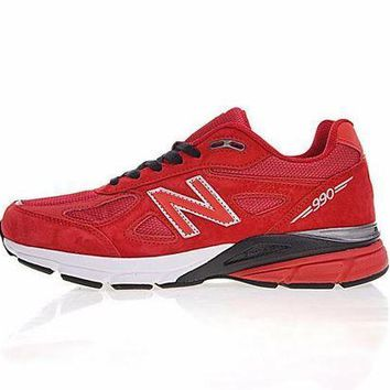 PEAP2Q new balance in usa m990v 4 retro running shoes red white 990rd4