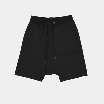 UNISEX TERRY SHORTS IN BLACK