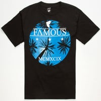 Famous Stars & Straps Eight Palms Mens T-Shirt Black  In Sizes