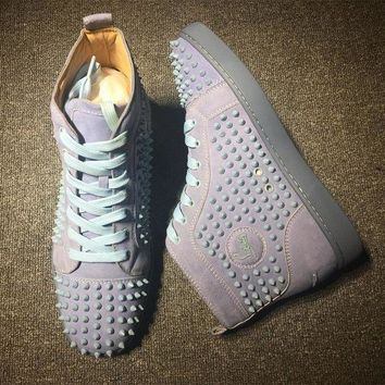 DCCK2 Cl Christian Louboutin Louis Spikes Style #1825 Sneakers Fashion Shoes