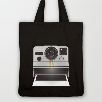 Retro Polaroid Camera Tote Bag by mikailah.clark