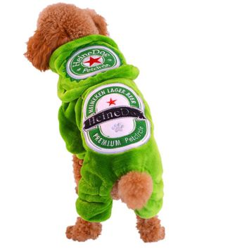 Toy Terriers Clothes For Dogs Of Small Breeds Green Beer Pattern Flannel Winter Pet Overalls For Puppy Animals Chihuahua Poodle