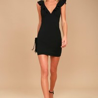 Good Life Black Sleeveless Bodycon Dress