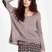 Sworn to Secrecy Elbow Patch Sweater