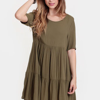 Pike Market Tiered Babydoll Dress