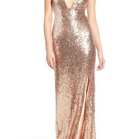 TFNC 'Tallulah' Sequin Sleeveless Gown | Nordstrom