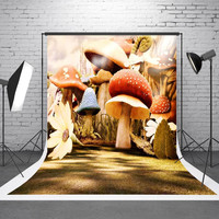 5x7ft Mushroom Vinyl Photography Background Gallery Wedding For Studio Photo Props Photographic Backdrops Cloth