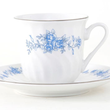 Royal Rose Set of 6 Bulk Discount Porcelain Teacups and Saucers include 6 Tea Cups and 6 Saucers