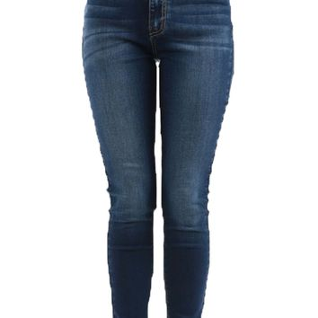 Kan Can Dark Stretchy High Rise Skinny Jeans
