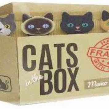 Tabby Cats In The Box Memo Set