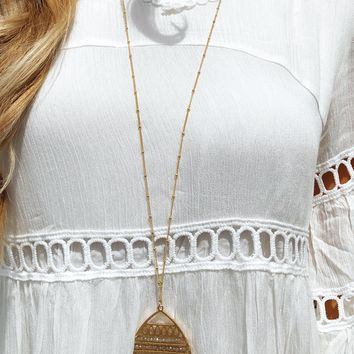 Over The Top Necklace: Gold