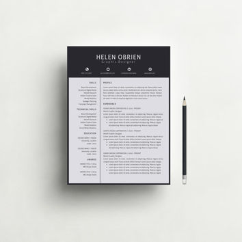 Resume Template - Modern and Professional Resume Template for Word, Free Cover Letter, DIY Printable 3 Pack, CV, Teacher Resume, CV Template
