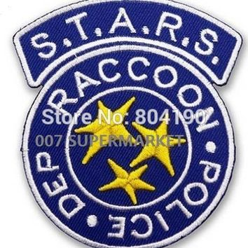 "3.5"" Resident Evil STARS RACCOON TV MOVIE Series Uniform Costume Movie TV Uniform Embroidered Iron On Patch Goth Punk Rockabilly"