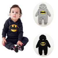 Hot Newborn Boy Clothes Baby Batman Hoodies Infant Romper Clothes 3-24Months