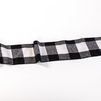 4 IN BUFFALO B&W BUFFALO CHECK RIBBON