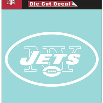 "New York Jets Die-Cut Decal - 8""x8"" White"