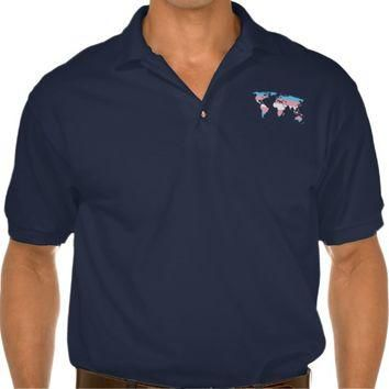 Transgender pride world map Polo Shirt