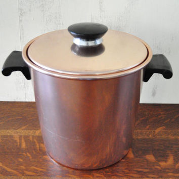 Vintage Regal Ice Bucket in Pink/Copper Tone, Insulated Ice Bucket