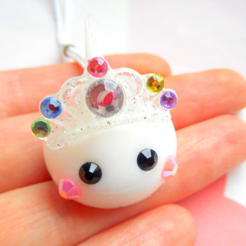 Princess Hoppe Chan, Kawaii Charm, Dust Plug Cute Phone Charm, Kawaii Keychain, Anime Gift, Sweet Lolita Kawaii Squishy Charm, Royal Crown