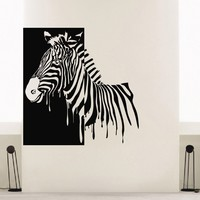 Wall Decal Vinyl Sticker Wild Animal Zebra Decor Sb455