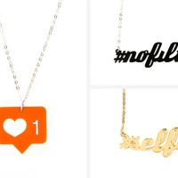 Instagram Necklaces: #selfie, #nofilter and Like - The Photojojo Store!