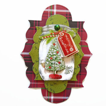Scrapbook Embellishment, Christmas, handmade 3D,  gift tags, Scrapbook Layouts Cards, Mini Albums smash book, Paper Crafts