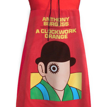 A Clockwork Orange Pop Art Printed Tube Strapless Dress
