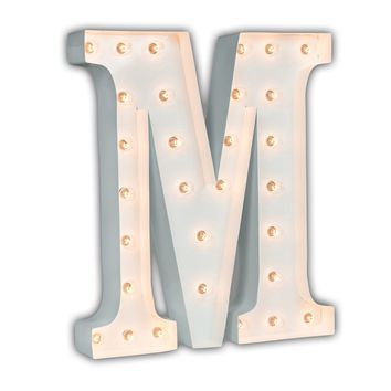 "24"" Letter M Lighted Marquee Letters (White Gloss)"
