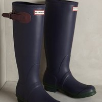 Hunter Original Contrast Rain Boots Midnight/dark Chocolate Burgundy