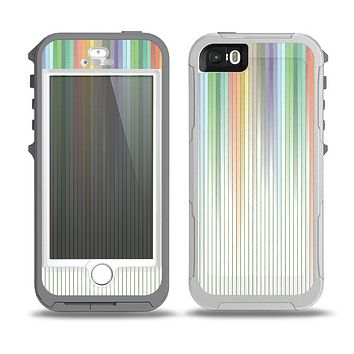 The Faded Pastel Color-Stripes Skin for the iPhone 5-5s OtterBox Preserver WaterProof Case