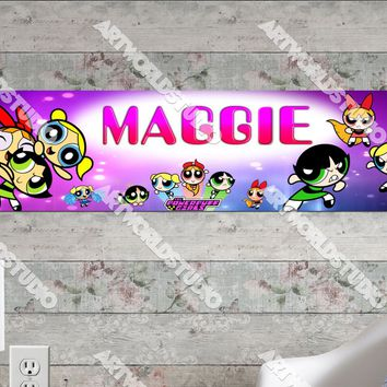 Personalized/Customized PowerPuff Girls Poster, Border Mat and Frame Options Banner 168