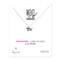 Dachshunds Long in Love Silver Necklace by Dogeared