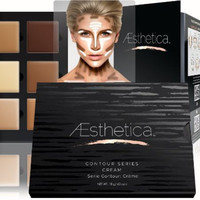Aesthetica Cosmetics Cream Contour and Highlighting Makeup Kit - Contouring Foundation / Concealer PaletteAesthetica Cosmetics Cream Contour and Highlighting Makeup Kit - Contouring Foundation / Concealer Palette