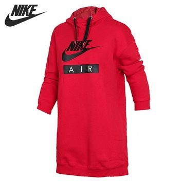 Original New Arrival 2018 NIKE NSW HOODIE DRESS AIR Women's Pullover Hoodies Sportswear