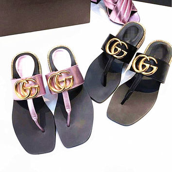 """""""GUCCI""""Fashion Women Casual Comfortable Sandals Shoes Slippers"""