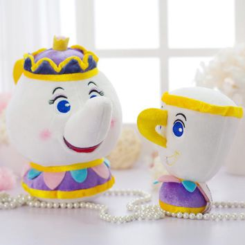 Disney Beauty And The Beast Teapot Cup Candle Holders Soft Toy That Stuffed Toys Plush Dolls For Kids Birthday Christmas Gifts