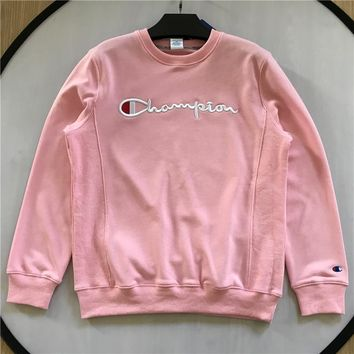 Champion Sweatshirt With Embroidered Logo