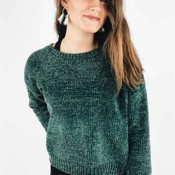 She Moves Sweater - Emerald