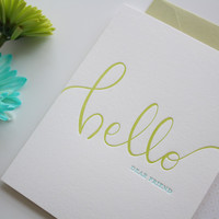 Hello Dear Friend Greeting Card // $2.50